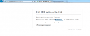 Site Blocked By Sophos Anti-Virus