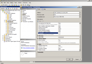 Trustworthy option for database in SQL Server Management Studio