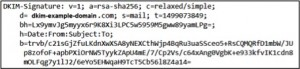 An example DKIM signature in an email header