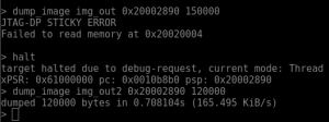 Dumping memory to a file
